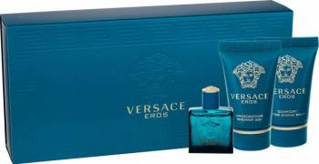 Apa de toaleta Versace Eros Barbatesc 5ML Edt 5ml + 25ml shower gel + 25ml aftershave balm Parfumuri de barbati