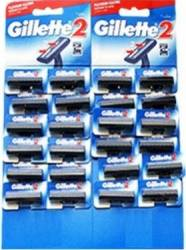 Aparat de ras Gillette 2 card 24 buc Aparate de ras clasice