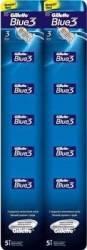 Aparat de ras Gillette Blue3 card 10 buc Aparate de ras clasice