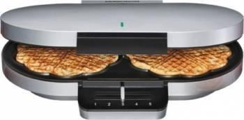 Aparat de Waffle Rommelsbacher Family 1200W Argintiu Aparate Preparat Desert