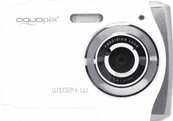 Aparat Foto Compact AquaPix W1024 Splash Waterproof Alb Aparate foto compacte