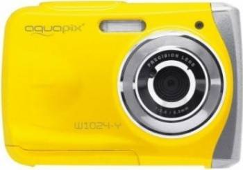 Aparat Foto Compact AquaPix W1024 Splash Waterproof Yellow Aparate foto compacte