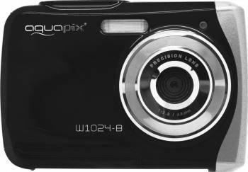 Aparat Foto Compact AquaPix W1024 Splash Waterproof Negru Aparate foto compacte