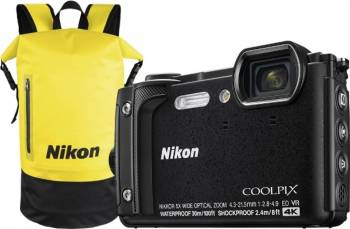 Aparat Foto Compact Nikon Coolpix W300 16MP Holiday Kit Negru Aparate foto compacte