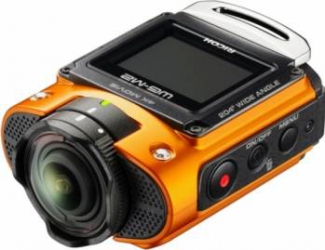 Camera video outdoor Ricoh WG-M2 Orange Camere Video OutDoor