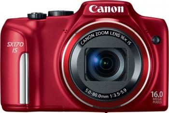Aparat Foto Digital Canon PowerShot SX170 Red 16MP