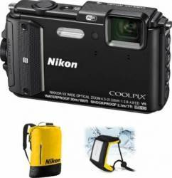 Aparat Foto Digital Nikon COOLPIX AW130 Diving KIT Black Aparate foto compacte
