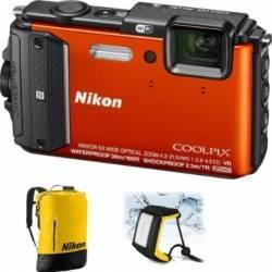 Aparat Foto Digital Nikon COOLPIX AW130 Diving KIT Orange Aparate foto compacte