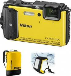 Aparat Foto Digital Nikon COOLPIX AW130 Diving KIT Yellow Aparate foto compacte