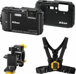 Aparat Foto Digital Nikon COOLPIX AW130 Outdoor KIT Black