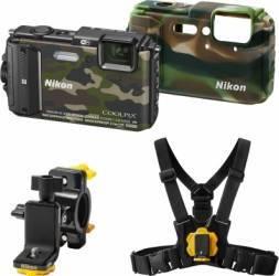 Aparat Foto Digital Nikon COOLPIX AW130 Outdoor KIT Camuflaj Aparate foto compacte