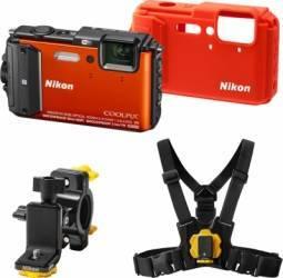 Aparat Foto Digital Nikon COOLPIX AW130 Outdoor KIT Orange Aparate foto compacte