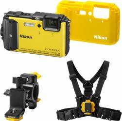 Aparat Foto Digital Nikon COOLPIX AW130 Outdoor KIT Yellow Aparate foto compacte