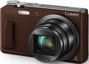 Aparat Foto Digital Panasonic Lumix TZ57EP 16MP Brown Aparate foto compacte