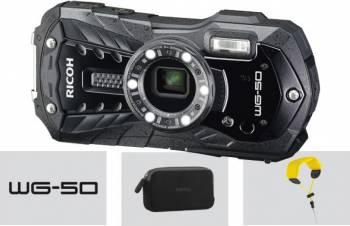 Aparat Foto Digital Ricoh WG-50 Rezistenta la Apa 16MP Black Aparate foto compacte