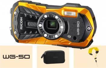 Aparat Foto Digital Ricoh WG-50 Rezistenta la Apa 16MP Orange Aparate foto compacte