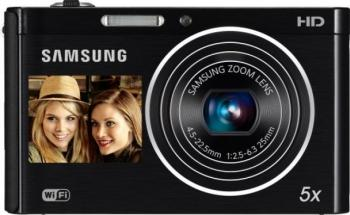 Aparat Foto Digital Samsung DV-300 Black WiFi Dual LCD 16MP
