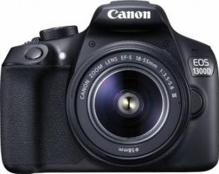 Aparat Foto DSLR Canom EOS 1300 BK 18.0 MP + Obiectiv 18-55mm f3.5-5.6 IS II Black Aparate foto DSLR