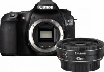 pret preturi Aparat Foto DSLR Canon EOS 60D Body + EF 40mm f2.8