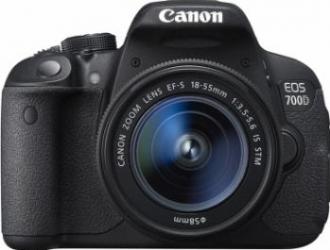 Aparat Foto DSLR Canon EOS 700D kit 18-55mm IS STM Black Aparate foto D-SLR