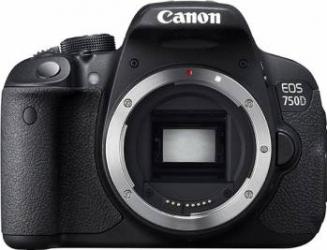 Aparat Foto DSLR Canon EOS 750D Body Black Aparate foto DSLR
