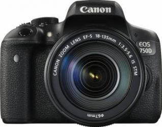 Aparat Foto DSLR Canon EOS 750D Kit 18-135mm f3.5-5.6 IS Black