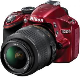 Aparat Foto DSLR Nikon D3200 Kit 18-55mm VR II Rosu