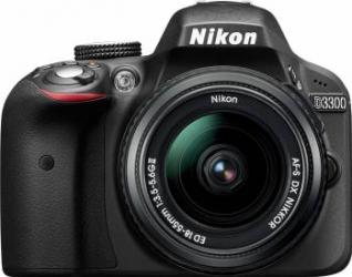 Aparat Foto DSLR Nikon D3300 Kit 18-55mm f3.5-5.6G ED II Negru