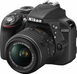 Aparat Foto DSLR Nikon D3300 Kit 18-55mm f3.5-5.6G VR II Negru