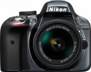 Aparat foto DSLR Nikon D3300, 24.2MP, Gri + Obiectiv AF-P 18-55mm VR Aparate foto D-SLR