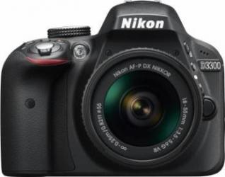 Aparat foto DSLR Nikon D3300, 24.2MP, Black + Obiectiv AF-P 18-55mm VR Aparate foto D-SLR