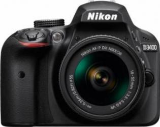 Aparat foto DSLR Nikon D3400 24 2MP Black + Obiectiv AF-P 18-55mm VR Aparate foto DSLR
