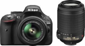 Aparat Foto DSLR Nikon D5200 kit 18-55mm f3.5-5.6 VR II + 55-200mm f4-5.6G VR II