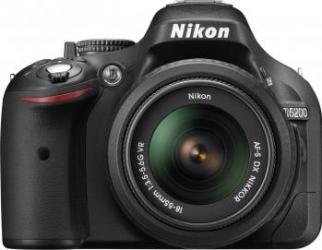Aparat Foto DSLR Nikon D5200 kit AF-S DX 18-55mm f3.5-5.6 VR II Negru