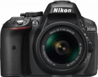 Aparat Foto DSLR Nikon D5300 Kit AF-P 18-55mm VR Negru Aparate foto DSLR