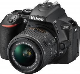 Aparat Foto DSLR Nikon D5500 Kit 18-55mm f3.5-5.6G VR II Negru
