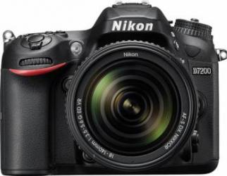 Aparat Foto DSLR Nikon D7200 Kit 18-140mm VR Black Aparate foto DSLR