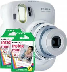 Aparat Foto Instant Fujifilm Instax mini 25 Alb + 2xInstax mini Film 2x10