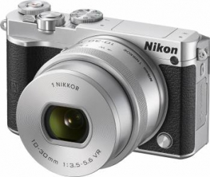 Aparat Foto Mirrorless Nikon 1 J5 Kit NIKKOR VR 10-30mm f3.5-5.6 PD-ZOOM Silver Aparate Foto Mirrorless