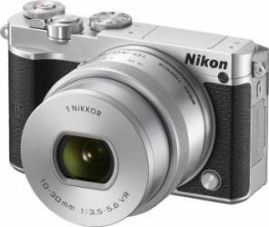 Aparat Foto Mirrorless Nikon 1 J5 Kit NIKKOR VR 10-30mm f3.5-5.6 PD-ZOOM Silver Aparate Foto Mirrorless
