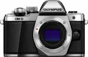 Aparat foto Mirrorless Olympus E-M10 Mark II Argintiu Kit EZ-M1442EZ Pancake Aparate Foto Mirrorless