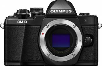 Aparat foto Mirrorless Olympus E-M10 Mark II Negru Kit EZ-M1442 IIR + EZ-M4015 R