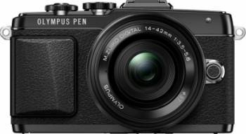 Aparat Foto Mirrorless Olympus E-PL7 black Zoom Kit EZ-M1442EZ 3.5-5.6
