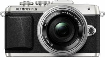 Aparat Foto Mirrorless Olympus E-PL7 silver Zoom Kit EZ-M1442EZ 3.5-5.6 Aparate Foto Mirrorless