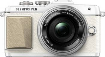 Aparat Foto Mirrorless Olympus E-PL7 white Zoom Kit EZ-M1442EZ 3.5-5.6 Aparate Foto Mirrorless