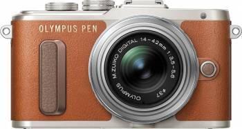 Aparat Foto Mirrorless Olympus E-PL8 Pancake Zoom Kit + EZ-M1442EZ Maro Aparate Foto Mirrorless