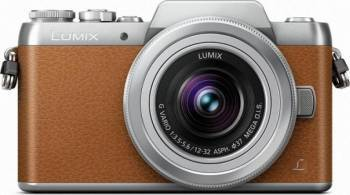 Aparat Foto Mirrorless Panasonic DMC-GF7KEG WiFi Brown Aparate Foto Mirrorless