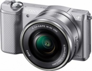 Aparat Foto Mirrorless Sony Alpha A5000 SEL16-50mm Silver Aparate Foto Mirrorless