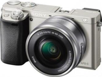 Aparat Foto Mirrorless Sony Alpha A6000 SEL 16-50mm Argintiu Aparate Foto Mirrorless
