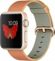 Apple Watch 38mm Carcasa Aluminiu Aurie Curea Nylon Rosie MMF52